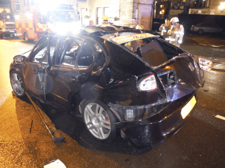 A man's car exploded due to an air freshener and a cigarette