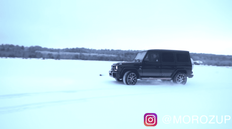 Guy drops his Mercedes AMG G63 from a helicopter.