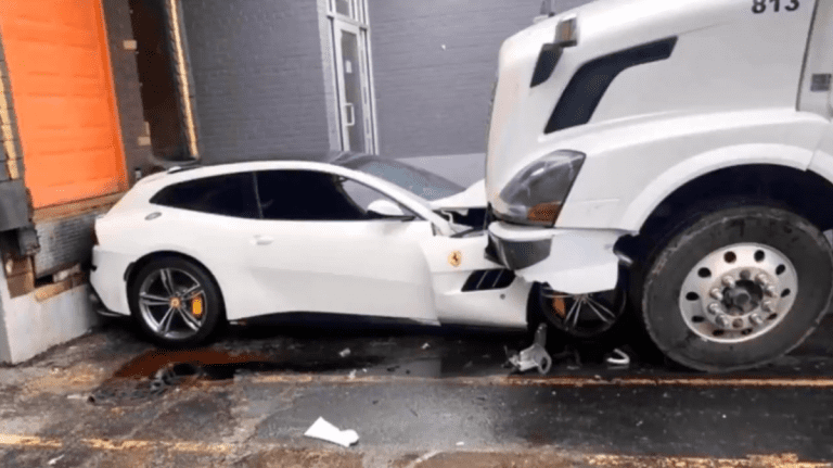 A truck driver gets fired then decides to plow into his ex-boss's Ferrari