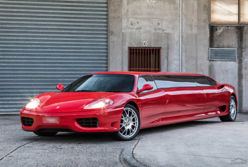 Someone is selling a Ferrari 360 Modena Limo for $268,000