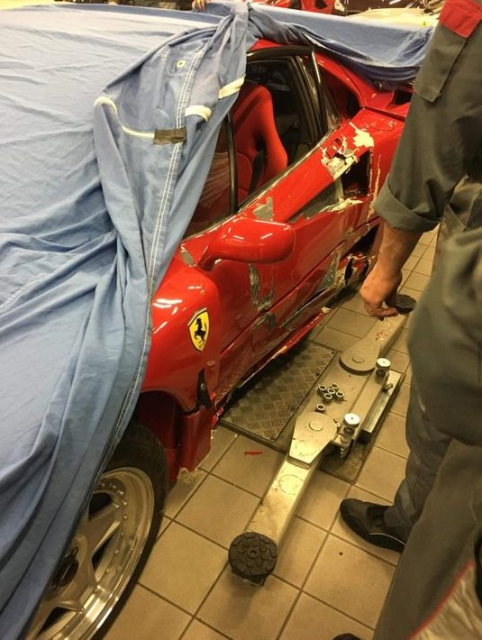 Guy buys a Ferrari F40 and does over $300,000 in damage within 30 minutes.