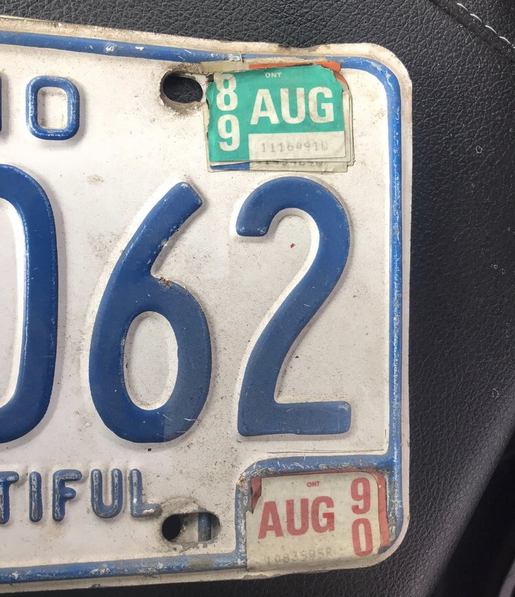 Man manages to drive on expired plates for 30 years
