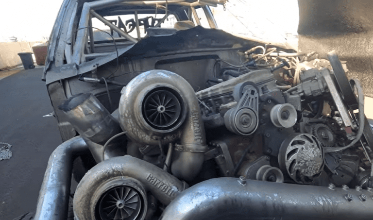 The aftermath of the 3000hp Diesel truck explosion