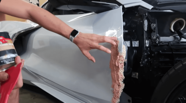 Guy fixes his wrecked Corvette C8 with some Ramen