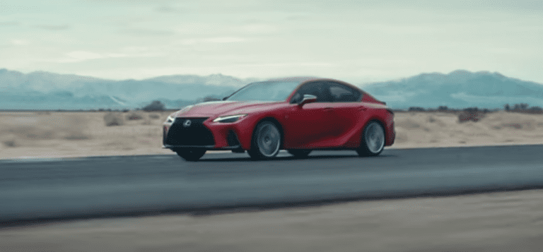 The 2022 Lexus IS 500 F Sport Performance has a V8 and an LSD