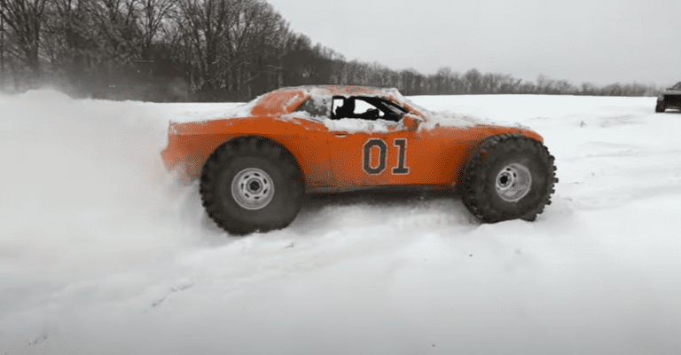 Streetspeed717 puts some mud tires on a Dodge Challenger
