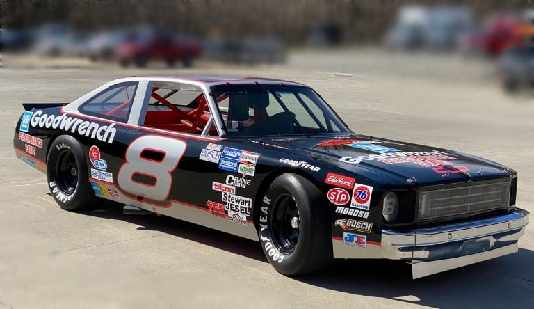 Dale Earnhardt Jr. restored his dad's car which was raced in the Busch Series