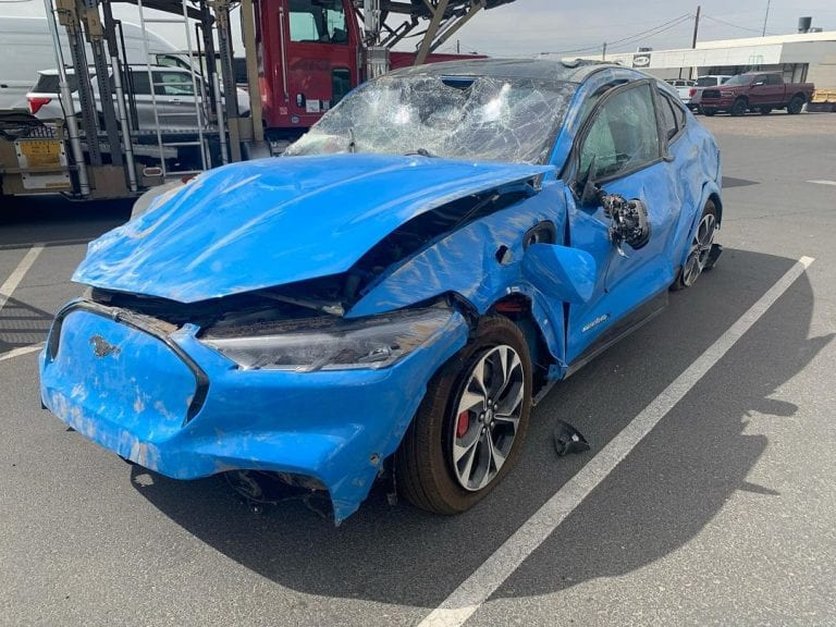 Someone already crashed a Mustang Mach-E