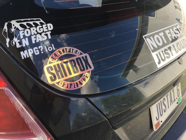 Certified Shitbox funny car sticker decal