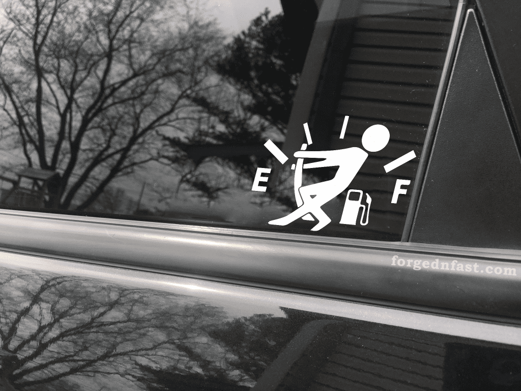 need more gas sticker