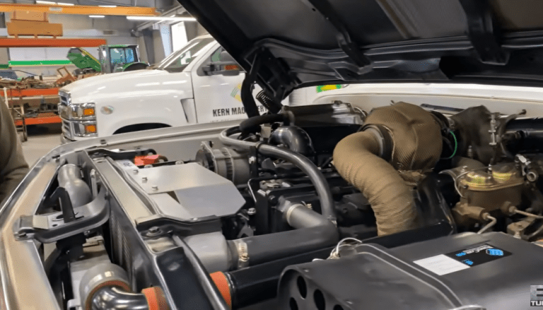 Guys swaps a John Deere tractor engine into a 1969 GMC Truck
