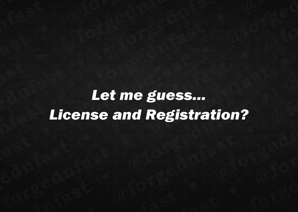 let me guess license and registration decal
