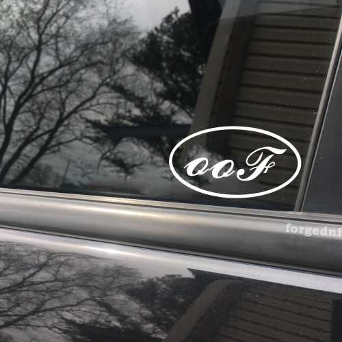 oof ford car decal
