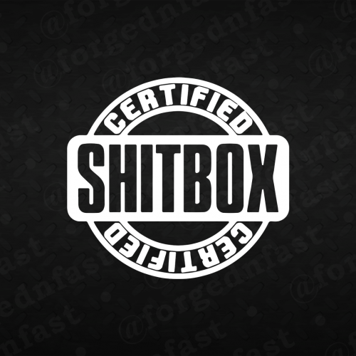 certified shitbox decal