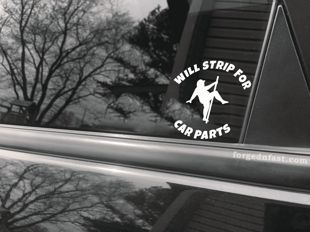 will stirp for car parts decal