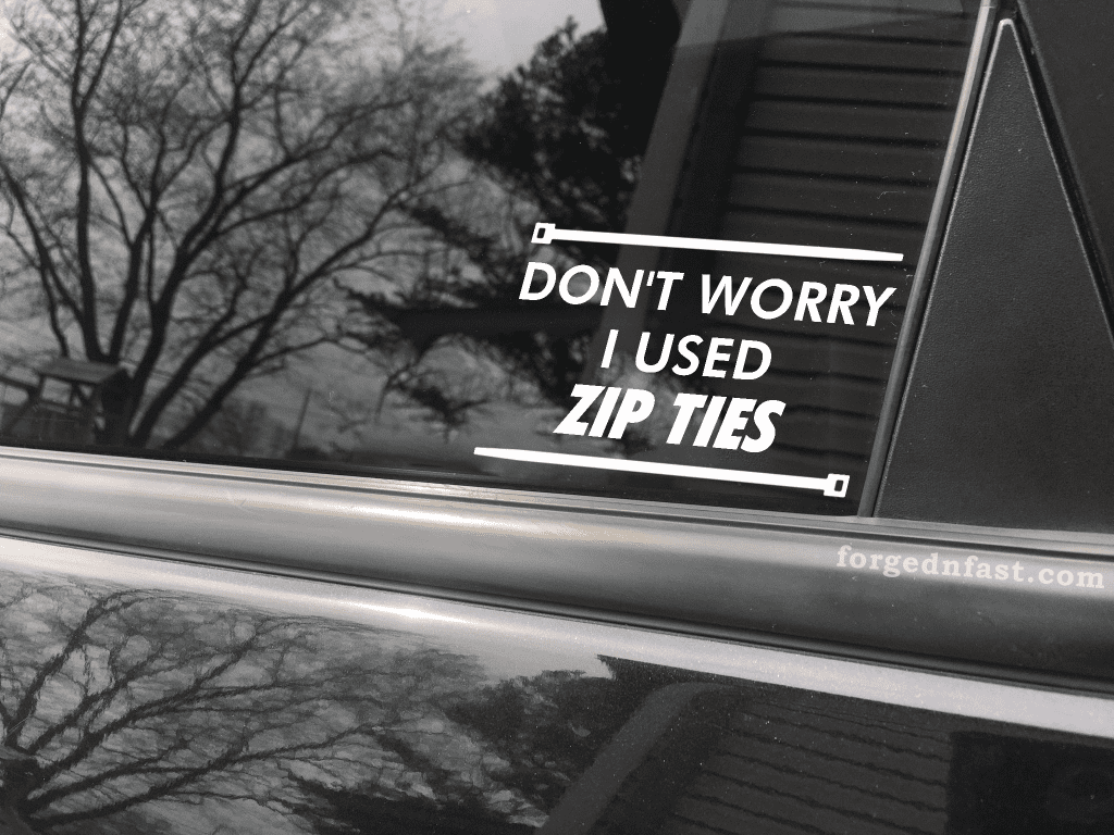 dont worry i used zip ties decal