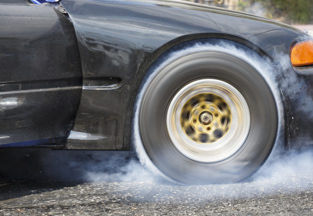spinning tire burnout