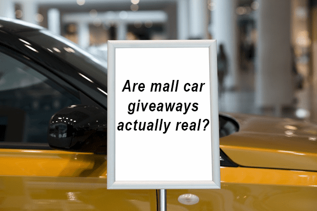 mall giveaway sign