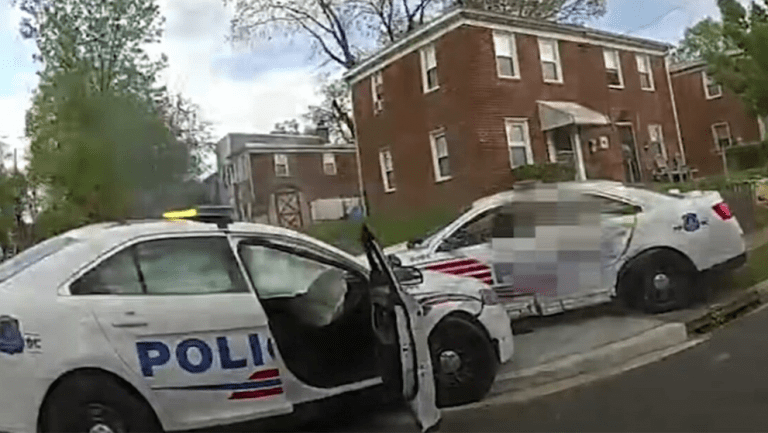 Watch two DC cop cars crash while drag racing