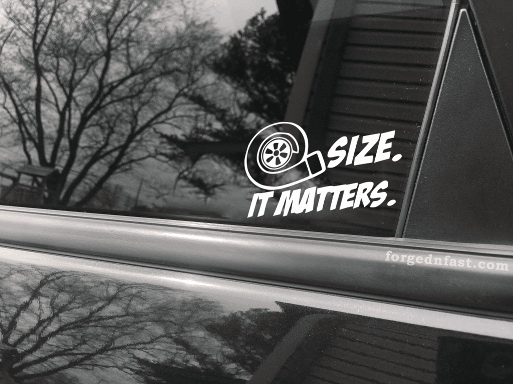 size it matters decal