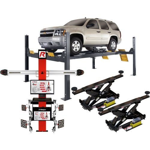BendPak Extended Aligner Combo — 14,000-Lb. Capacity Car Lift and Alignment System, Model# HD-14LSXE