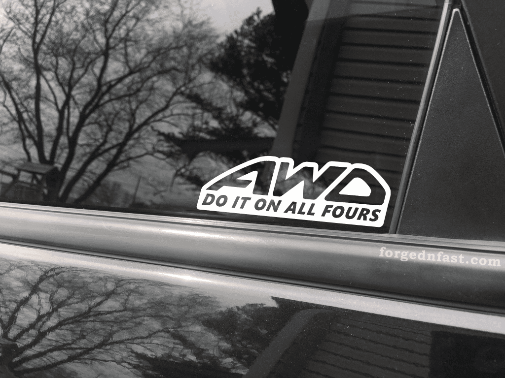 awd do it on all fours decal