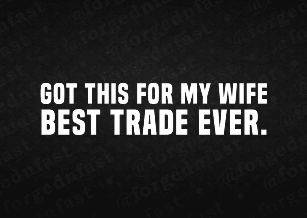 got this for my wife. best trade ever decal
