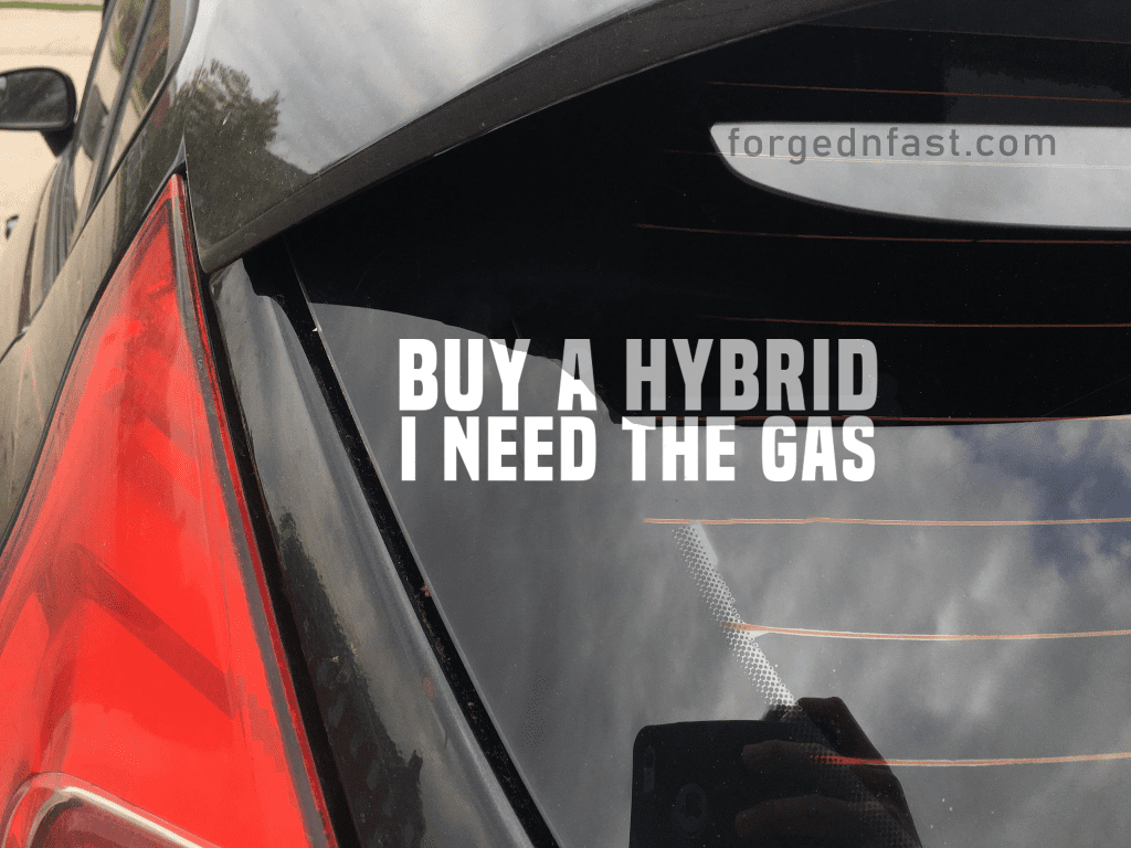 buy a hybrid I need the gas decal