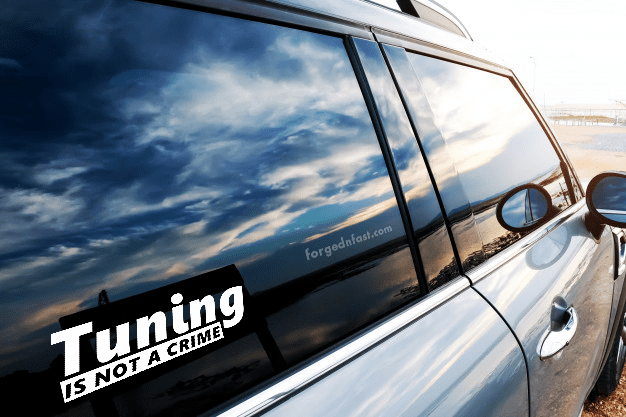 tuning is not a crime decal